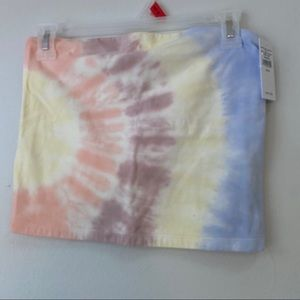 Tie dye tube top from American Eagle